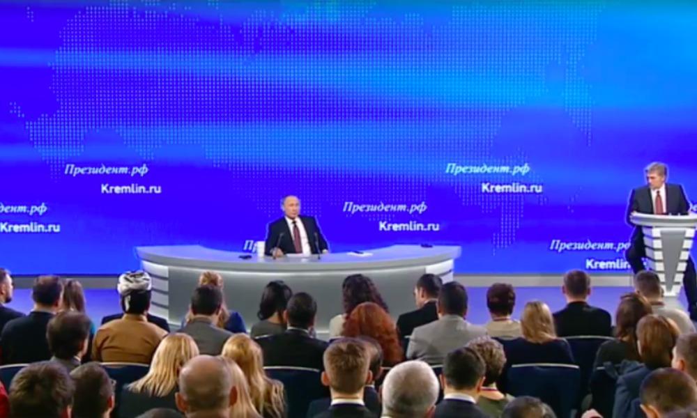 Путина в начале большой пресс-конференции порадовало снижение оттока капитала из России