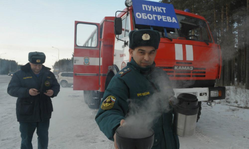 Спасательные пункты появились на российских шоссе из-за суровых морозов