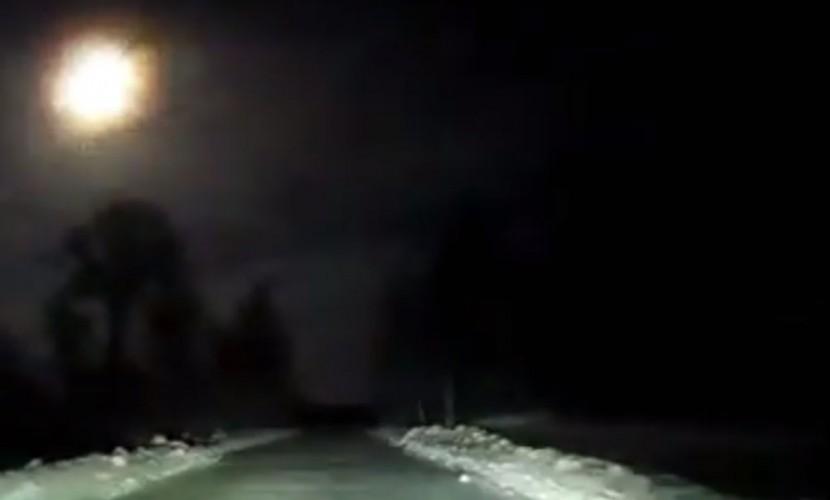 Полет яркого метеора над Архангельском сняли на видео
