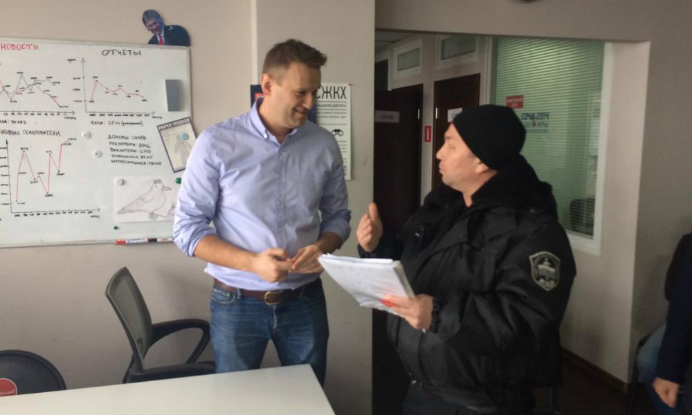 Опубликовано видео принудительного вывода Навального из офиса Фонда борьбы с коррупцией