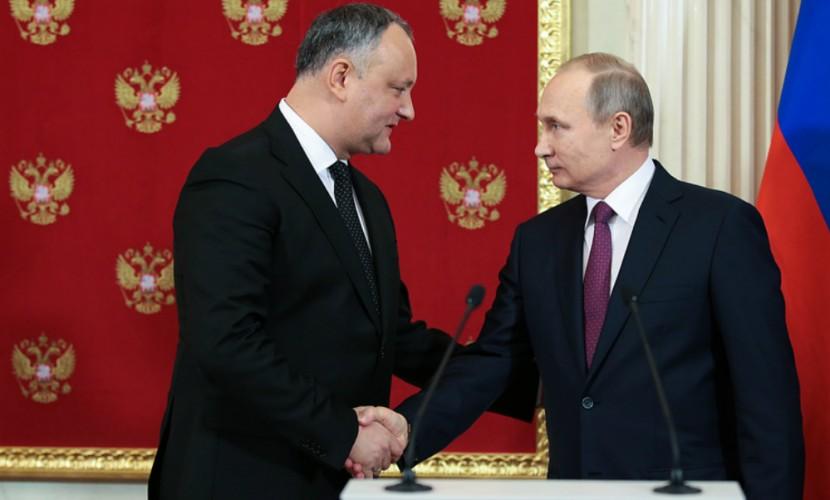 Путин похвалил Додона замужество