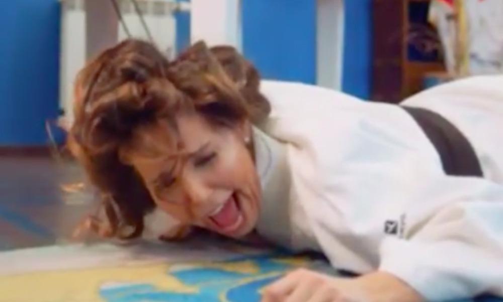 Карина Ротенберг подарила мужу Борису на 60-летний юбилей видеопародию на клип про «лабутены»