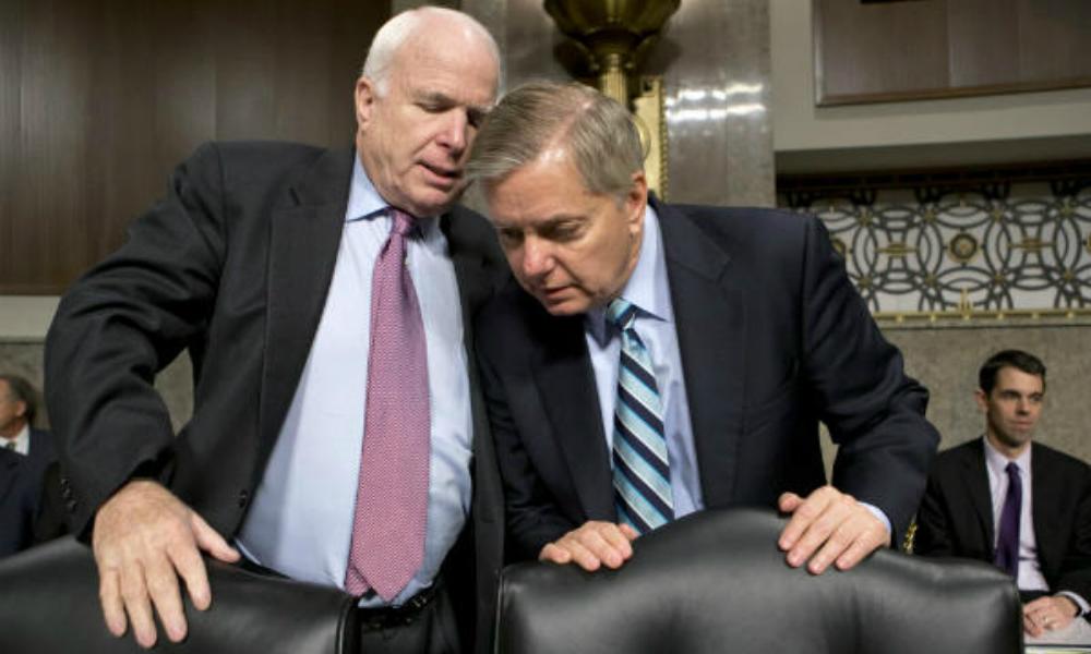 Трамп поставил на место сенаторов-русофобов Джона Маккейна и Линдси Грэма