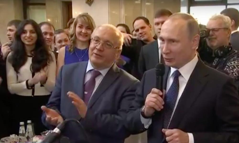 Владимир Путин исполнил вместе со студентами