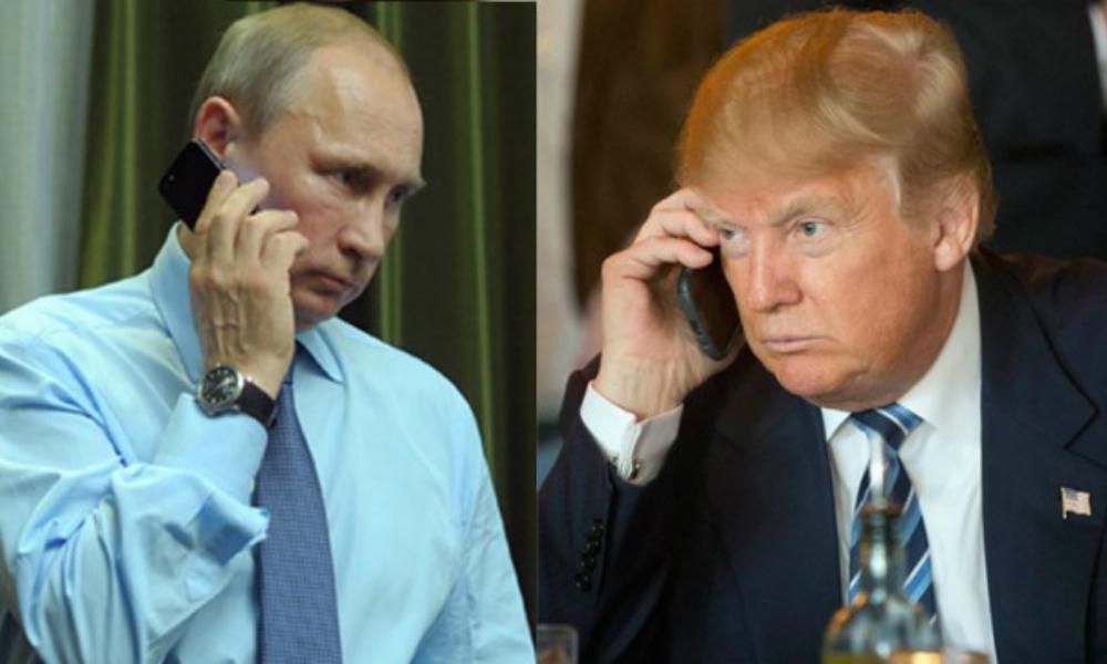 Названы дата и время первых телефонных переговоров Путина и Трампа