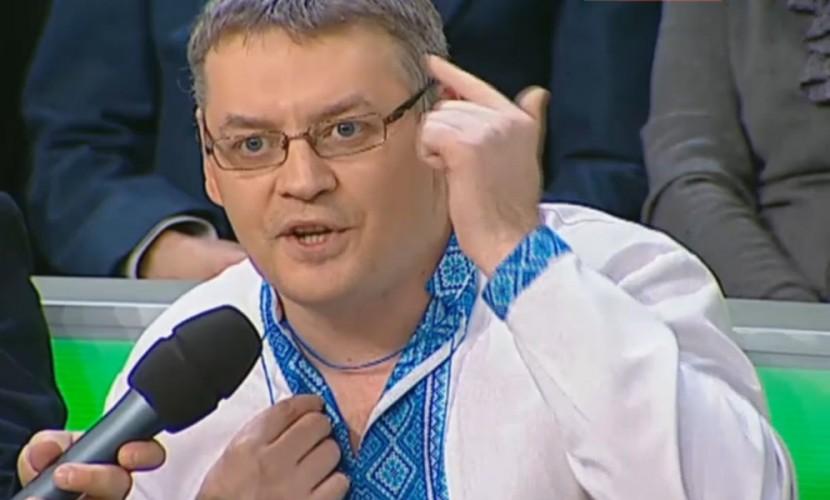 Украинского националиста в белорусской вышиванке опозорили в прямом эфире телеканала НТВ