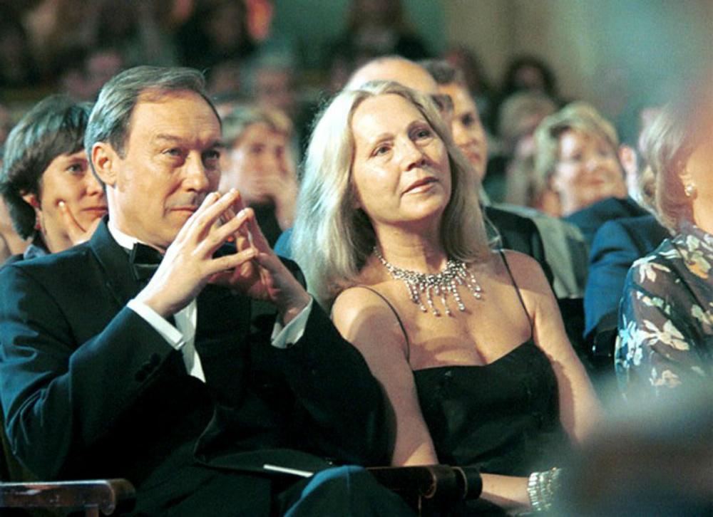 Олег Янковский с женой