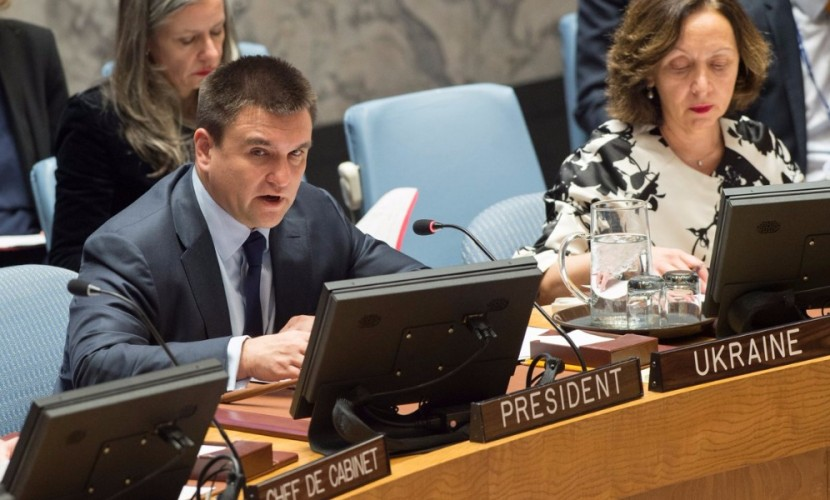 Глава МИД Украины Климкин выступил за лишение России права вето в Совете Безопасности ООН