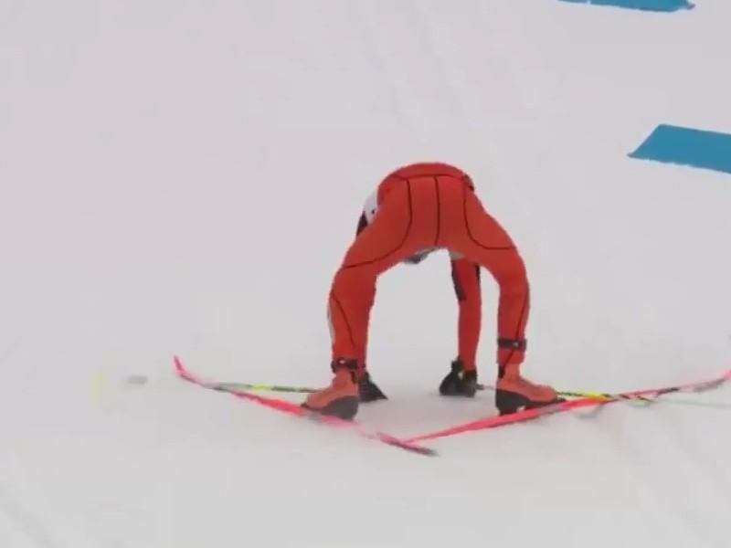 Массовый завал лыжниц лишил их победы