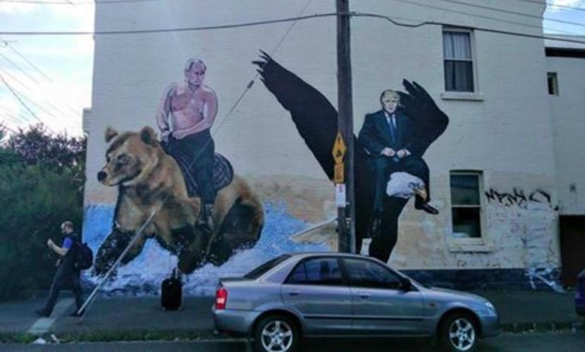 Художники нарисовали на стене в Австралии