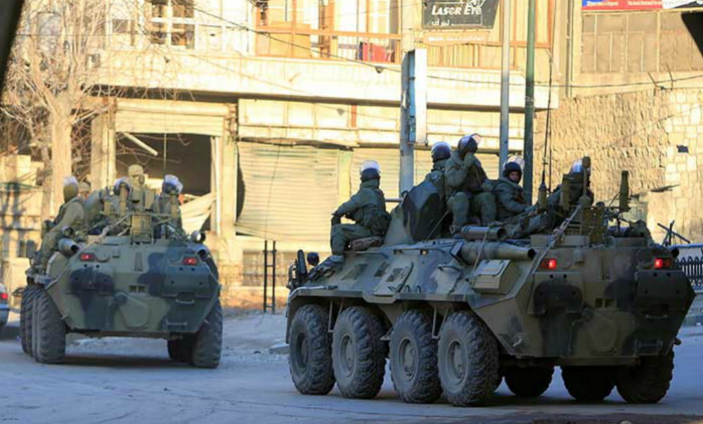 Минобороны назвало ложью новость про подрыв российской бронемашины в Сирии