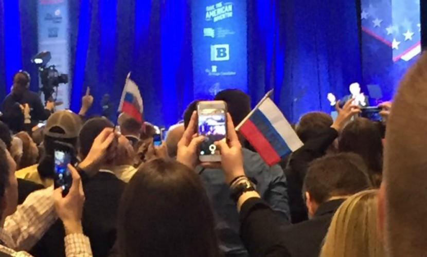 Наконференции сучастием Трампа сорвали провокацию сфлагами России