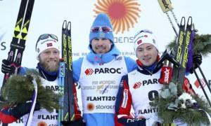 Россиянин Устюгов завоевал золото чемпионата мира в скиатлоне