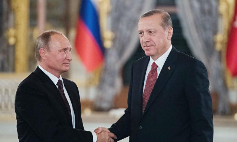 Во время встречи с Путиным Эрдоган рассказал о главных направлениях сотрудничества России и Турции