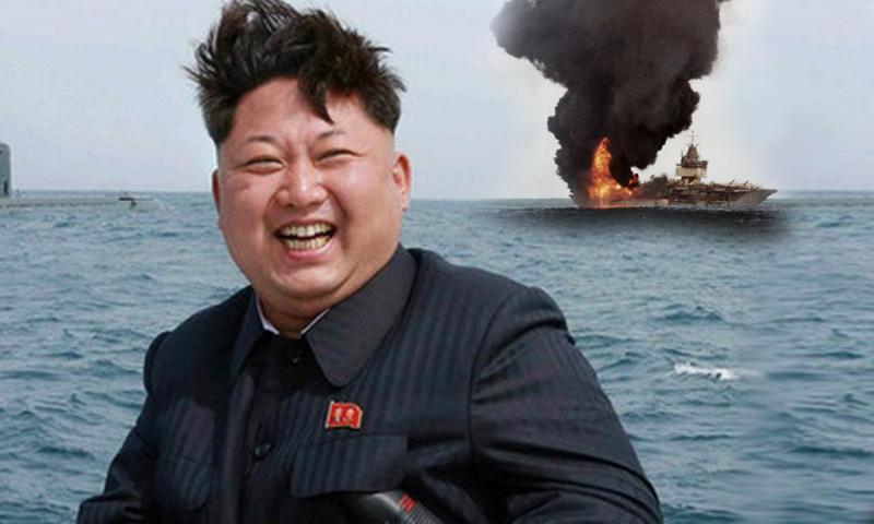 ВС КНДР уничтожили  американские самолеты и авианосец в пропагандистском видео
