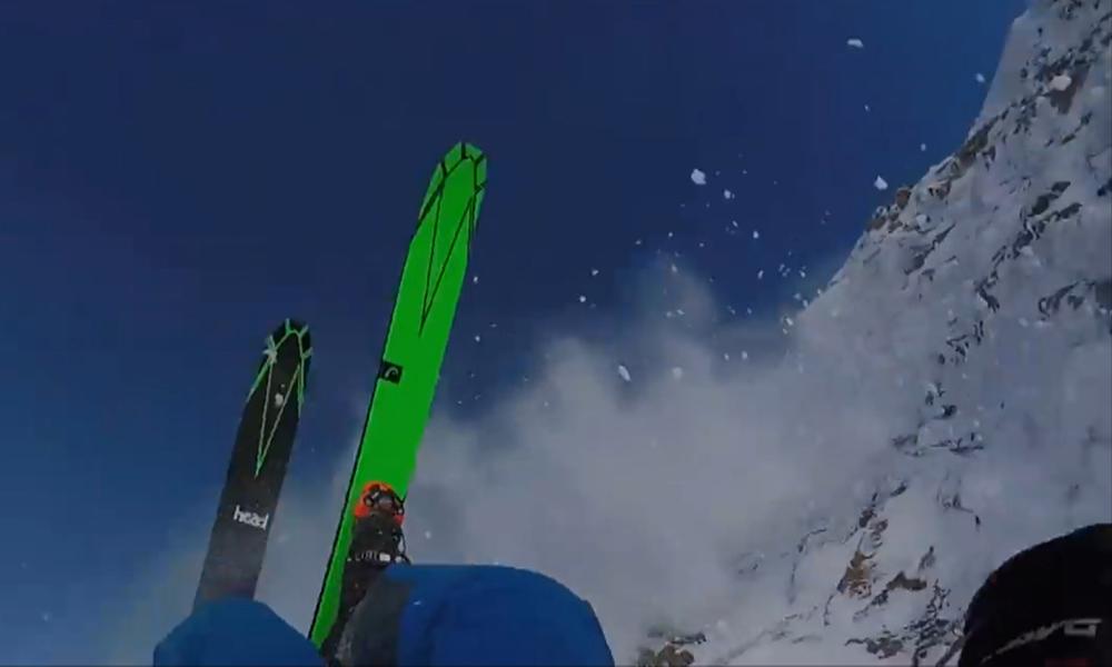 Российский горнолыжник снял в Австрии собственное падение с горы