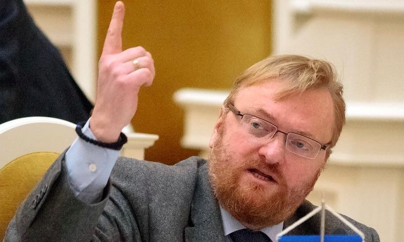 Милонов в ответ на сообщение о запрете СБУ на въезд назвал Украину