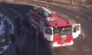 У водителя пожарной цистерны в Домодедове случился гипертонический криз