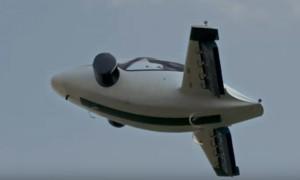 В Германии протестировали крылатый электромобиль с вертикальным взлетом