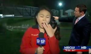 Видеокурьез с зевающей журналисткой во время прогноза погоды насмешил пользователей соцсетей