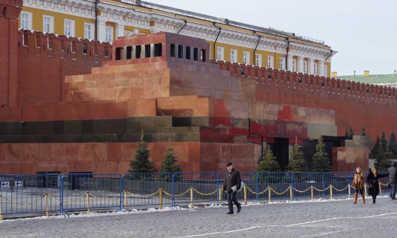 Мавзолей Ленина в Москве открылся в преддверии дня рождения вождя мирового пролетариата