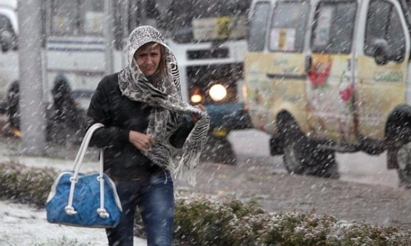 В Москву надолго вернулась зима с мокрым снегом и заморозками