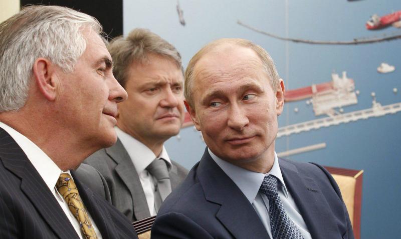 Госсекретарь США Рекс Тиллерсон обсудил Сирию с Владимиром Путиным и Сергеем Лавровым