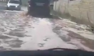 Сок затопил улицы города в Липецкой области
