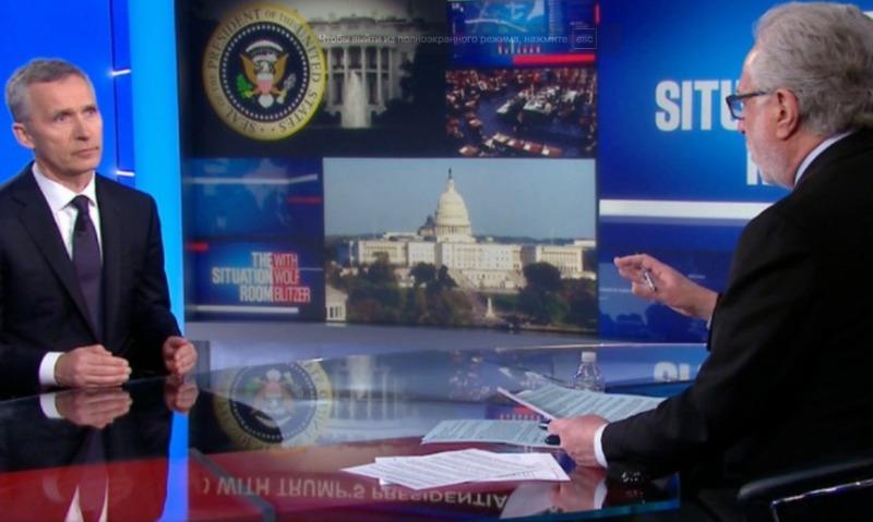 Босс НАТО Столтенберг заявил телеканалу CNN о высокой агрессивности со стороны России