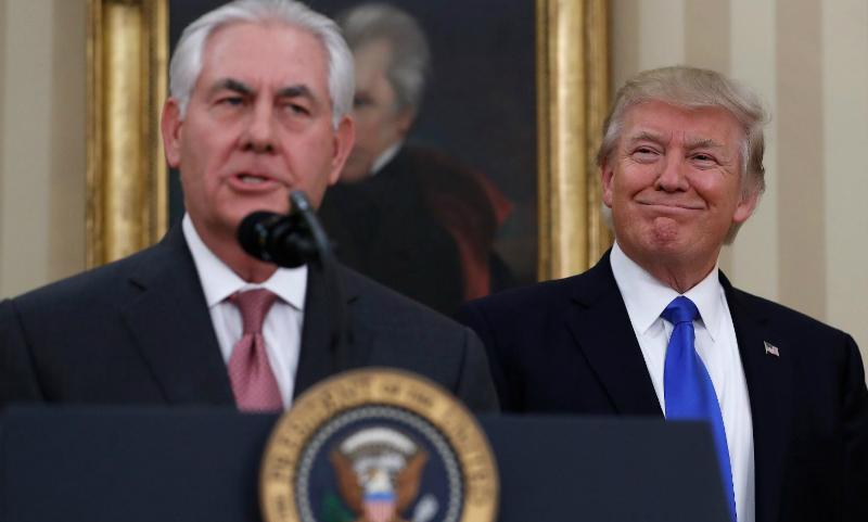 Трамп остался доволен визитом госсекретаря Тиллерсона в Москву