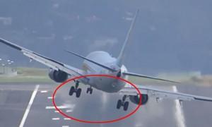 Самолет совершил тяжелую посадку при сильном боковом ветре в аэропорту Мадейры