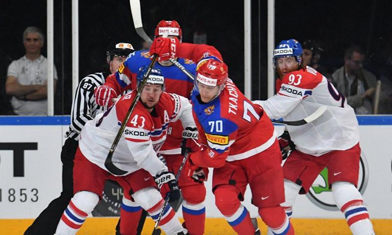 Россия вышла в полуфинал ЧМ по хоккею после «сухой» победы над Чехией