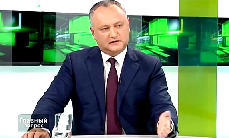 Додон опроверг слухи о решении назначить его преемником Путина