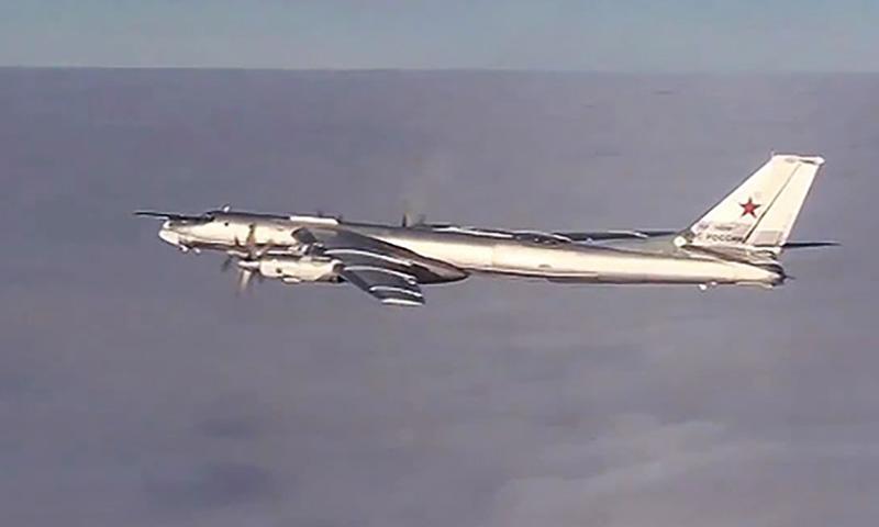 Минобороны опубликовало видео полета Ту-95 вблизи Аляски