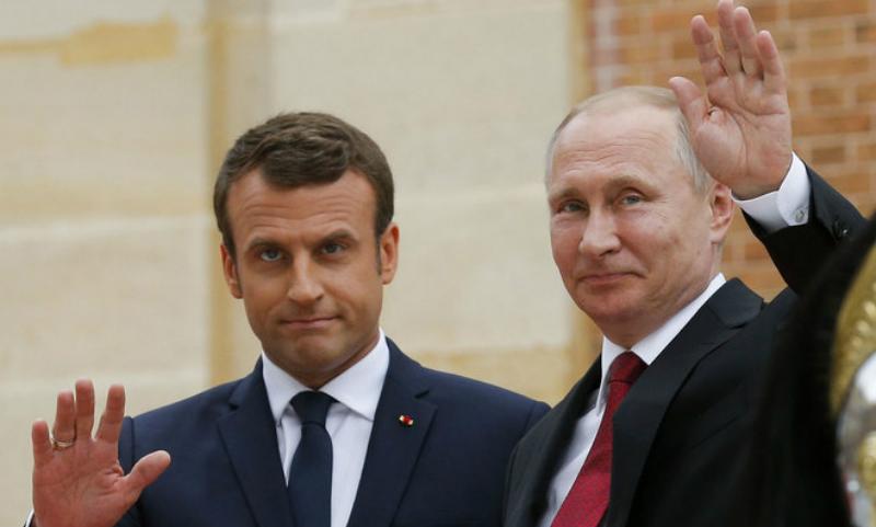 Путин и Макрон в Париже обсудили борьбу с терроризмом, Украину и геев