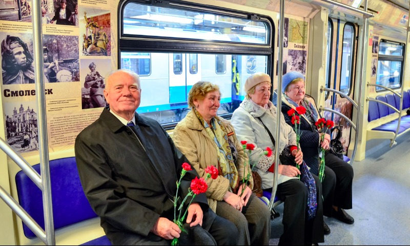 Ветераны ВОВ смогут бесплатно ездить встоличном метро до12мая