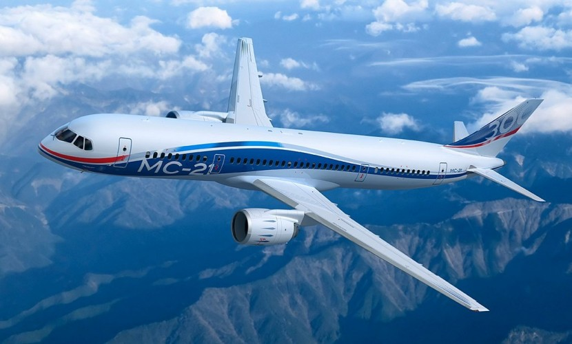 Опубликовано видео первого пробного полета новейшего лайнера МС-21 в Иркутске