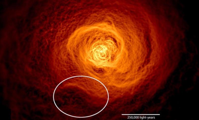 Ученым NASA удалось заснять «цунами» в космосе