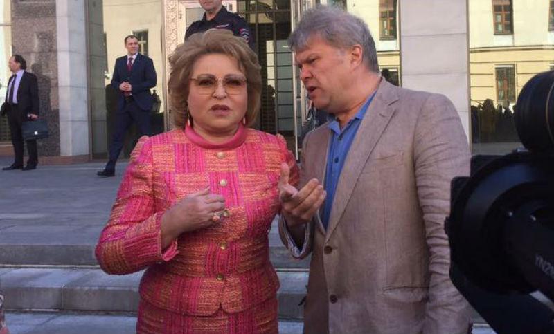 Митрохина задержали возле Совфеда после беседы с Матвиенко на пикете о реновации