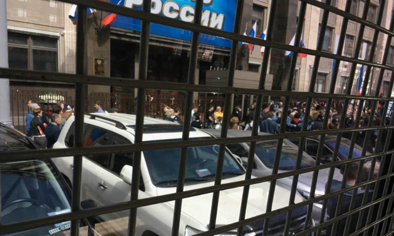 Опубликовано видео задержаний на массовой акции против реновации у здания Госдумы