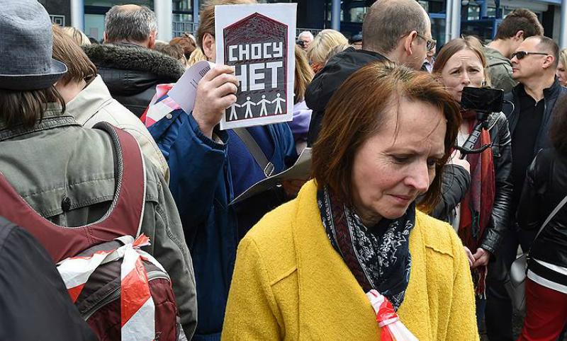 «Собянина в отставку!»: противники реновации устроили шествие около здания Госдумы