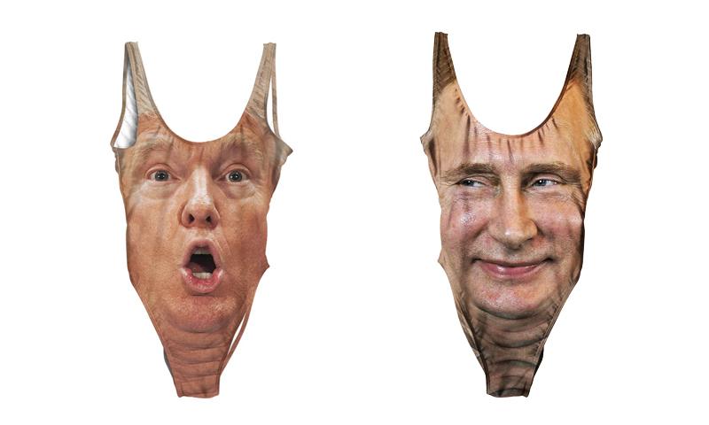 В Сети началась продажа купальников с эмоциональными Путиным и Трампом