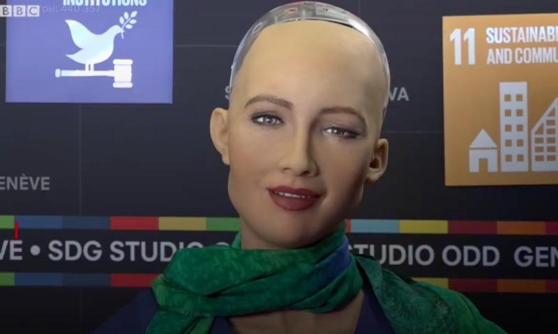 Обещавшая уничтожать людей самый совершенный робот София задумалась над смыслом жизни