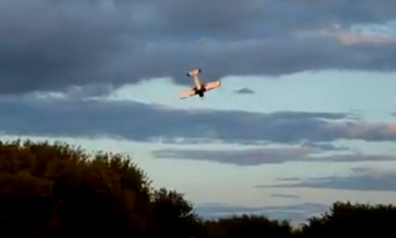 Легкомоторный самолет потерпел крушение во время репетиции авиашоу в Тамбове