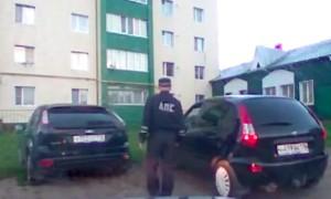 Опубликовано видео стрельбы патруля ДПС по атаковавшим их уголовникам