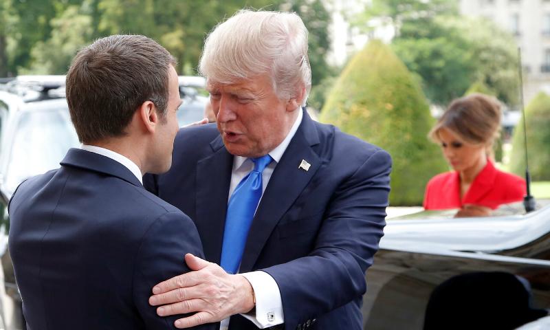 Макрон после переговоров с Трампом заявил о важности сотрудничества с Россией