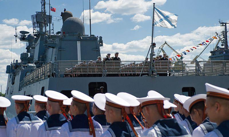 Российский флаг подняли в сирийском Тартусе в честь Дня ВМФ