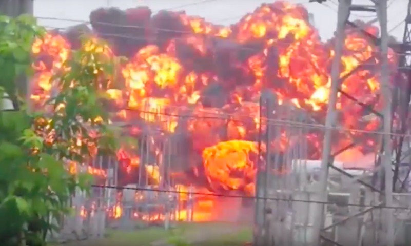 Мощный взрыв на электроподстанции потряс Томск
