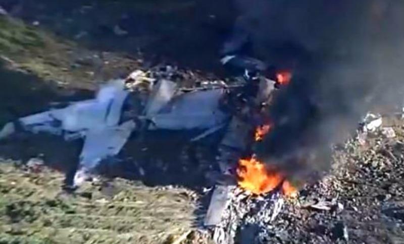 Опубликовано видео крушения военного самолета, в котором погибли 16 человек