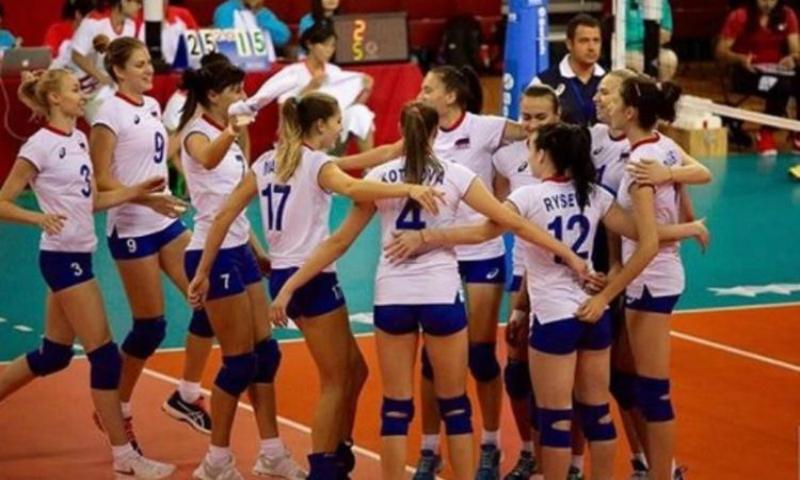 Российские волейболистки взяли